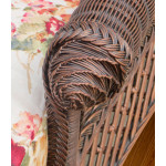 Victorian Natural Wicker Lounge Chair  - ARM-DETAIL