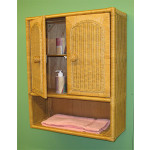 Wicker Wall Cabinet, Caramel -