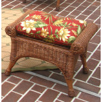 Natural Wicker Bench or Ottoman, Diamond Style  - TEAWASH