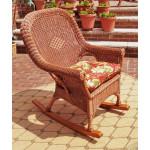 Natural Wicker Rocking Chairs, High Back Diamond Style - TEAWASH