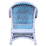 Arlington Rattan Framed Natural Wicker Chair - REAR VIEW