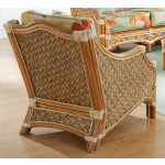 Natral Rattan Lounge Chair, Aloha - NATURAL-REAR