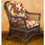 Arlington Rattan Framed Natural Wicker Chair - BROWN  WASH