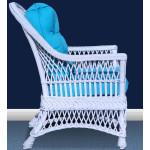 Arlington Rattan Framed Natural Wicker Chair - SIDE VIEW