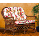 (5) Piece Arlington Wicker Furniture Set - BROWN WASH