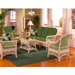 (5) Piece Arlington Wicker Furniture Set - WHITEWASH