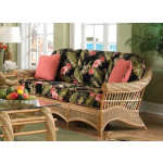 Countryside Twist Rattan Framed Natural Wicker Sofa - NATURAL