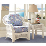 Fiji Rattan Framed Indoor Wicker Chair - WHITE