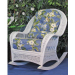 Fiji Wicker  Rocking Chair  - WHITE