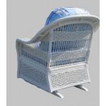 Fiji  Rattan Framed Natural Wicker Glider Chair - WHITE-REAR
