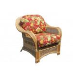 Fiji Rattan Framed Indoor Wicker Chair - CINNAMON