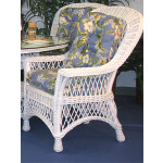 Harbor Beach Dining Arm Chair with Cushions - WHITE