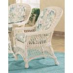 Harbor Beach Dining Arm Chair with Cushions - WHITEWASH
