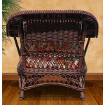 Harbor Beach Rattan Framed Natural Wicker Chair - REAR VIEW