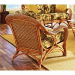 Java Twist Rattan Framed Natural Wicker Chair - REAR VIEW