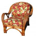 Java Twist Rattan Framed Natural Wicker Chair - COCOA