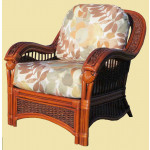 Mariner Natural Rattan Wicker Chair  - BROWN WASH