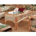 Mariner Natural Rattan Wicker Cocktail Table - NATURAL