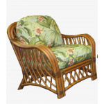 Old Town Natural Rattan Lounge Chair with Cushions - CINNAMON
