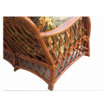 Old Town Natural Rattan Lounge Chair with Cushions - ARM VIEW