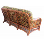 Old Town Natural Rattan Sofa with Cushions - REAR VIEW