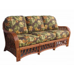 Old Town Natural Rattan Sofa with Cushions -