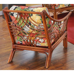 South Pacific Natural Rattan Chair  - BROWN WASH