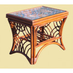 South Pacific Natural Rattan End Table - BROWN WASH