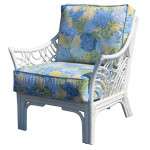 South Pacific Natural Rattan Chair  - WHITE