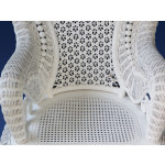 Country Natural Rattan Framed Wicker Rocker - SEAT-VIEW
