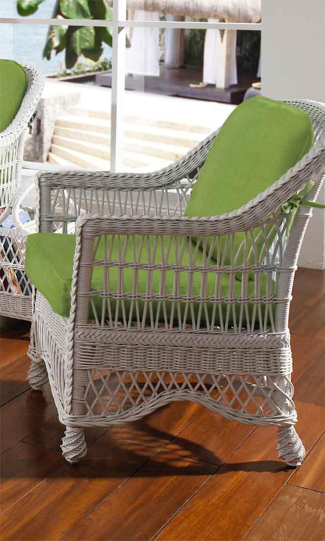 Capri Rattan Framed Natural Wicker Chair