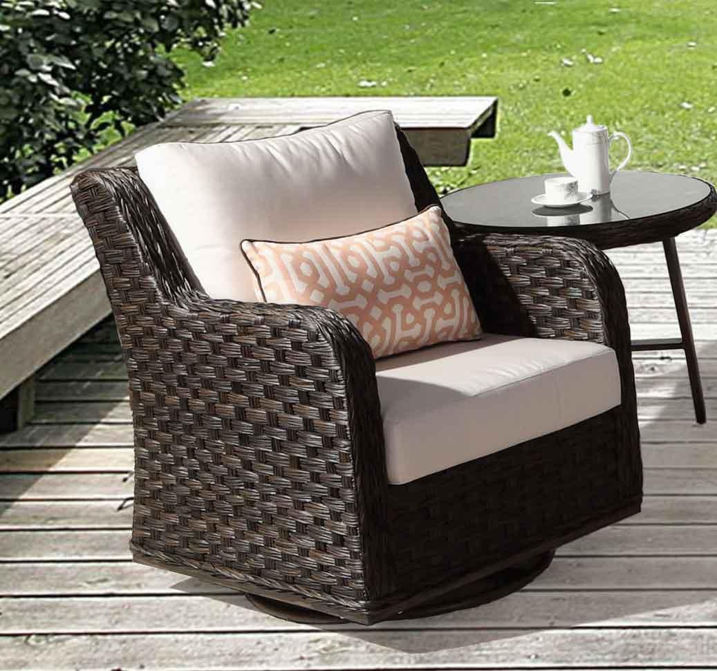 Weather Resin Wicker Swivel Glider Chair