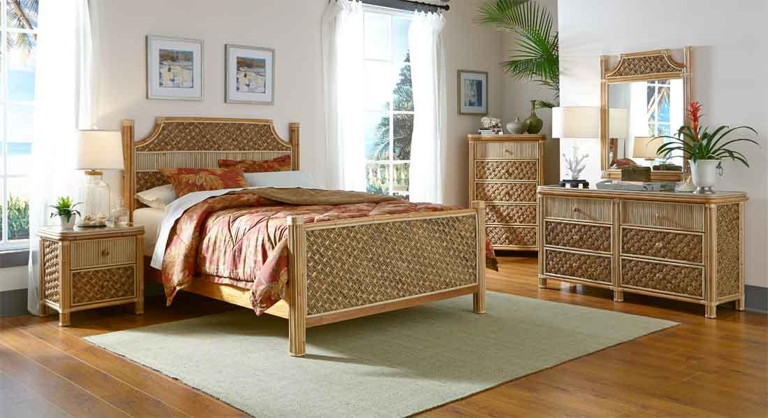 5 Piece Nassau King Bedroom Set, Rattan Bedroom Furniture