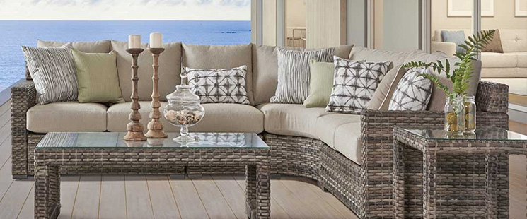 Biscayne Bay All Weather Modular Resin Wicker Sectionals