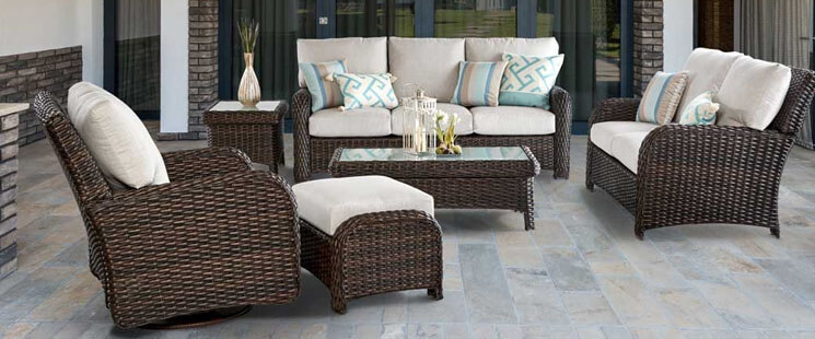 St Croix All Weather Resin Wicker Furniture Sets