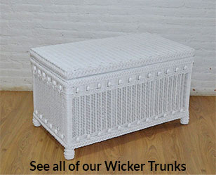 Large Victorian Trunk-White - WHITE